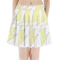 Lightning Yellow Pleated Mini Skirt by Mariart