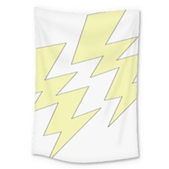 Lightning Yellow Large Tapestry by Mariart