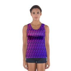 Hexagon Widescreen Purple Pink Women s Sport Tank Top  by Mariart