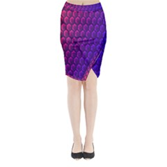Hexagon Widescreen Purple Pink Midi Wrap Pencil Skirt by Mariart