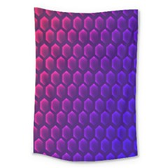 Hexagon Widescreen Purple Pink Large Tapestry by Mariart