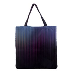 Moonlight Light Line Vertical Blue Black Grocery Tote Bag by Mariart