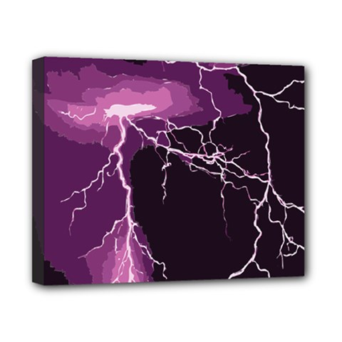 Lightning Pink Sky Rain Purple Light Canvas 10  X 8