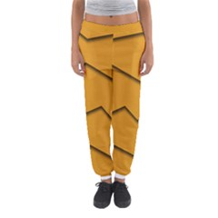Orange Shades Wave Chevron Line Women s Jogger Sweatpants by Mariart