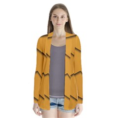 Orange Shades Wave Chevron Line Cardigans by Mariart