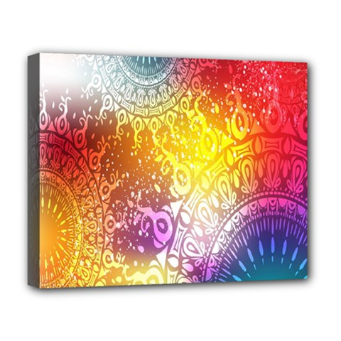 Multi Colour Alpha Deluxe Canvas 20  X 16   by Mariart