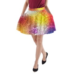 Multi Colour Alpha A Line Pocket Skirt by Mariart