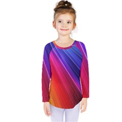 Multicolor Light Beam Line Rainbow Red Blue Orange Gold Purple Pink Kids  Long Sleeve Tee by Mariart
