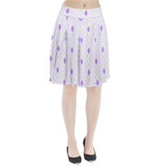 Purple White Hexagon Dots Pleated Skirt by Mariart