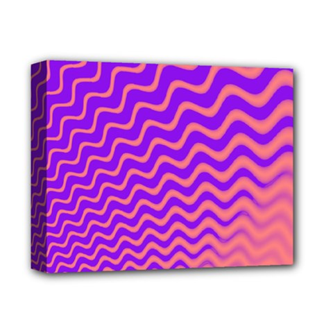 Original Resolution Wave Waves Chevron Pink Purple Deluxe Canvas 14  X 11  by Mariart