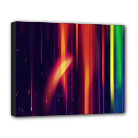 Perfection Graphic Colorful Lines Deluxe Canvas 20  X 16   by Mariart