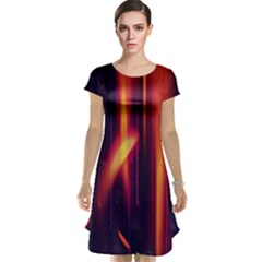 Perfection Graphic Colorful Lines Cap Sleeve Nightdress by Mariart