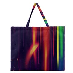 Perfection Graphic Colorful Lines Zipper Large Tote Bag by Mariart