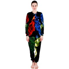 Perfect Amoled Screens Fire Water Leaf Sun Onepiece Jumpsuit (ladies)