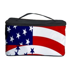 Star Line Hole Red Blue Cosmetic Storage Case by Mariart