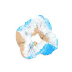 Sand Beach Water Sea Blue Brown Waves Wave Velvet Scrunchie by Mariart