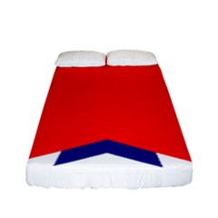 Stars Red Blue Fitted Sheet (full/ Double Size) by Mariart
