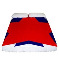 Stars Red Blue Fitted Sheet (king Size)