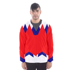 Stars Red Blue Hooded Wind Breaker (men) by Mariart