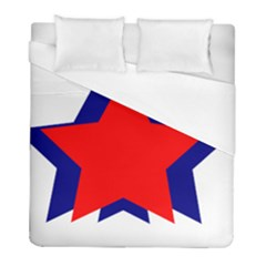 Stars Red Blue Duvet Cover (full/ Double Size) by Mariart