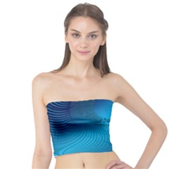 Fractals Lines Wave Pattern Tube Top by Nexatart