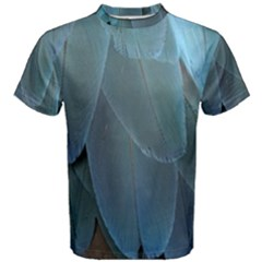 Feather Plumage Blue Parrot Men s Cotton Tee