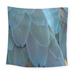 Feather Plumage Blue Parrot Square Tapestry (large) by Nexatart