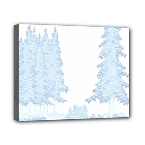 Winter Snow Trees Forest Canvas 10  X 8  by Nexatart