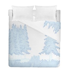 Winter Snow Trees Forest Duvet Cover Double Side (full/ Double Size) by Nexatart
