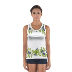 Birthday Card Flowers Daisies Ivy Women s Sport Tank Top  by Nexatart