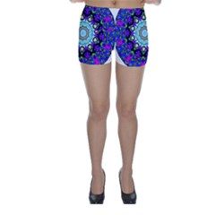 Graphic Isolated Mandela Colorful Skinny Shorts