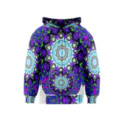 Graphic Isolated Mandela Colorful Kids  Zipper Hoodie