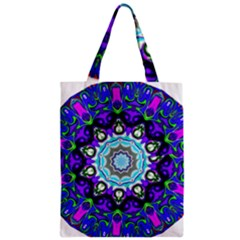 Graphic Isolated Mandela Colorful Zipper Classic Tote Bag by Nexatart