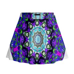 Graphic Isolated Mandela Colorful Mini Flare Skirt