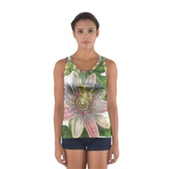 Passion Flower Flower Plant Blossom Women s Sport Tank Top  by Nexatart