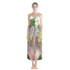 Passion Flower Flower Plant Blossom Chiffon Maxi Dress by Nexatart