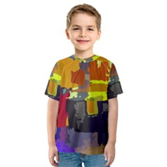 Abstract Vibrant Colour Kids  Sport Mesh Tee