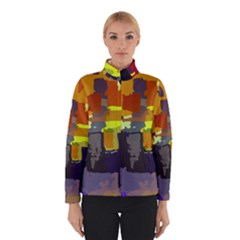 Abstract Vibrant Colour Winterwear