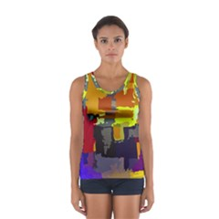 Abstract Vibrant Colour Women s Sport Tank Top