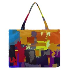 Abstract Vibrant Colour Medium Zipper Tote Bag by Nexatart