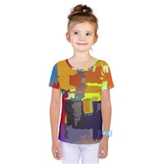 Abstract Vibrant Colour Kids  One Piece Tee