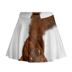 Squirrel Wild Animal Animal World Mini Flare Skirt