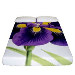 Lily Flower Plant Blossom Bloom Fitted Sheet (king Size)