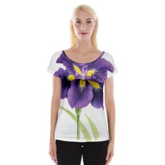 Lily Flower Plant Blossom Bloom Women s Cap Sleeve Top by Nexatart
