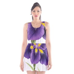 Lily Flower Plant Blossom Bloom Scoop Neck Skater Dress