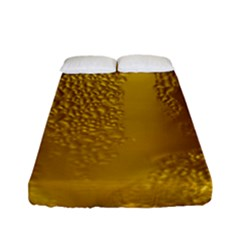 Beer Beverage Glass Yellow Cup Fitted Sheet (full/ Double Size) by Nexatart