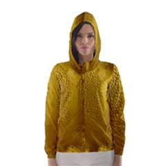 Beer Beverage Glass Yellow Cup Hooded Wind Breaker (women) by Nexatart