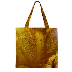 Beer Beverage Glass Yellow Cup Zipper Grocery Tote Bag by Nexatart