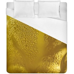 Beer Beverage Glass Yellow Cup Duvet Cover (california King Size) by Nexatart