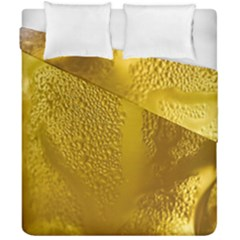 Beer Beverage Glass Yellow Cup Duvet Cover Double Side (california King Size) by Nexatart